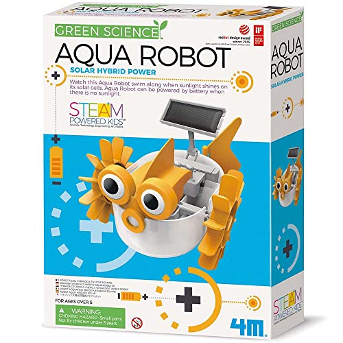 4M 403415 Green Science Aqua Robot-Solar Hybrid Power, Multi von 4M