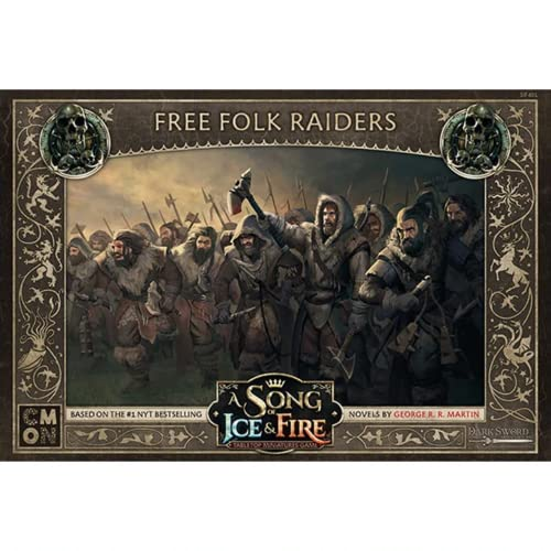 CoolMiniOrNot CMNSIF401 A Song of Ice and Fire Miniaturspiel: Free Folk Raiders Expansion, Mehrfarbig von CoolMiniOrNot