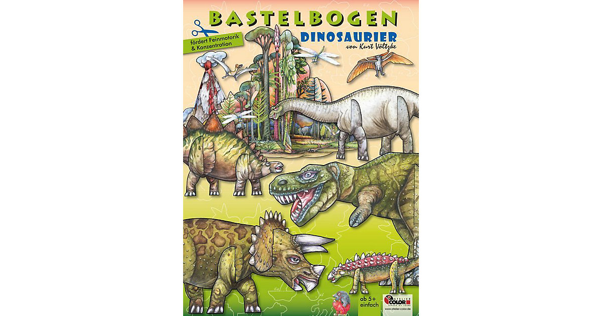 Buch - Dinosaurier Bastelbogen von ATELIER COLOR House of Ideas