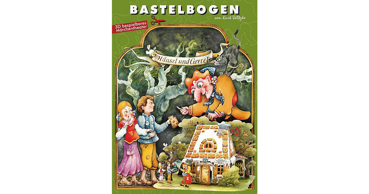 Buch - Hänsel und Gretel Bastelbogen von ATELIER COLOR House of Ideas