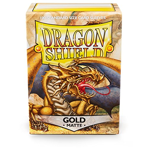 Dragon Shield 11006 Standard Sleeves Kartenhhüllen, Matte Gold von Dragon