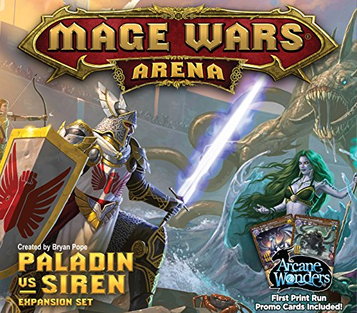Arcane Wonders ARWWX3PS Brettspiel Mage Wars Paladin vs. Siren Expansion von Arcane Wonders