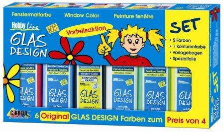 "C.KREUL Window Color Hobby Line ""Glas Design"", Aktions-Set von Art-Munafacture-Design"