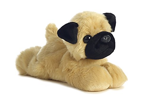 Aurora World 31369 Mini Flopsie Mr. Pugster Mops,ca. 20,5cm, bunt von Aurora World Ltd
