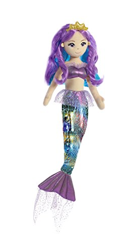 Aurora World 33232 Sea Sparkles Regenbogen Plüsch, 46 cm, Violet von Aurora World Ltd