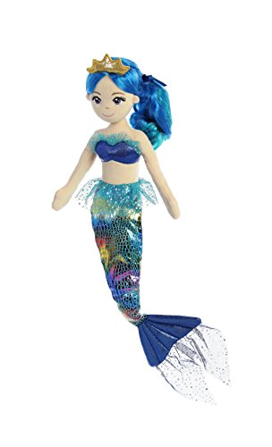 Aurora World 33231 Sea Sparkles Regenbogen Plüsch, 46 cm, Indigo von Aurora World Ltd