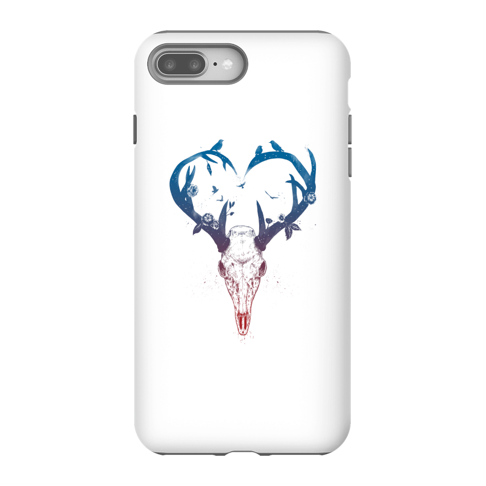 Balazs Solti Antlers Phone Case for iPhone and Android - iPhone 8 Plus - Tough Case - Gloss von Balazs Solti