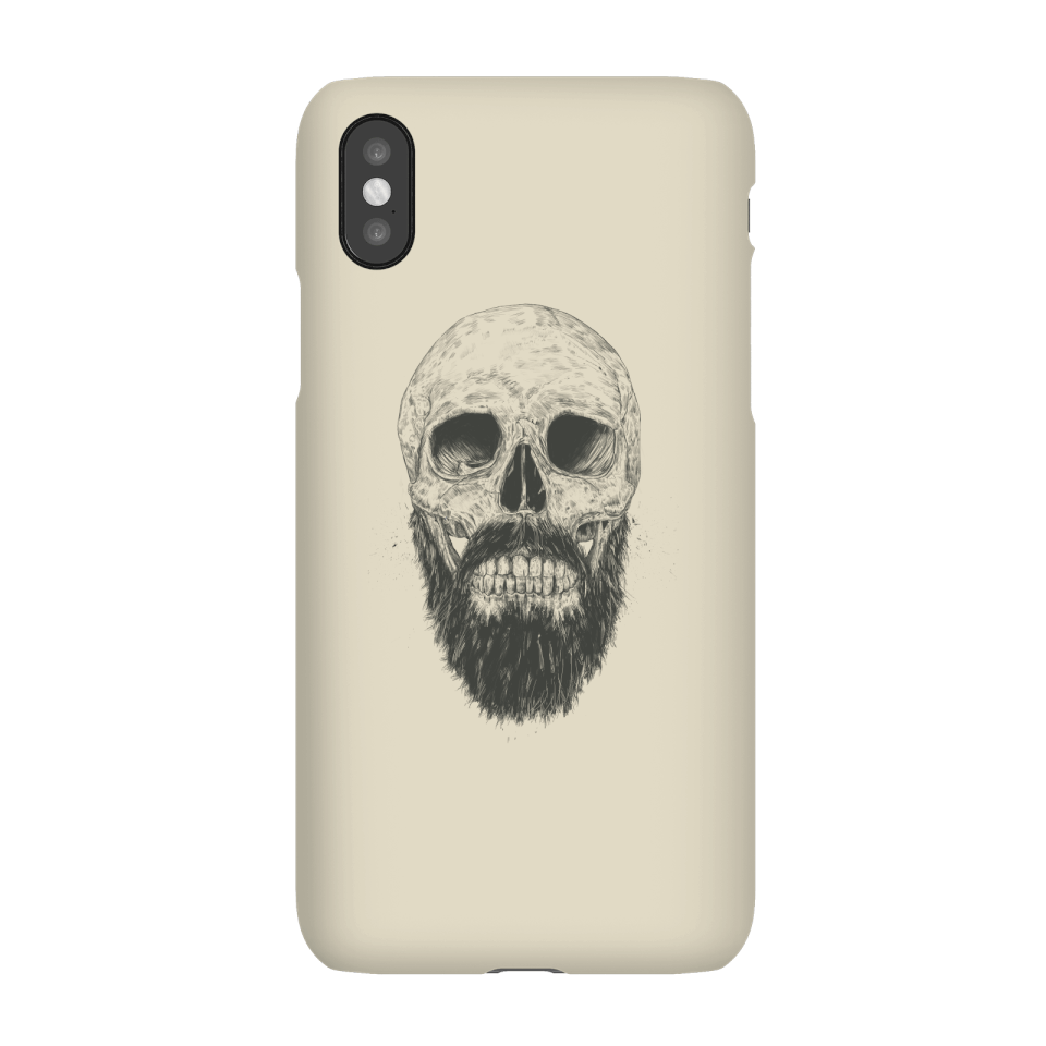 Balazs Solti Bearded Skull Phone Case for iPhone and Android - iPhone X - Snap Case - Gloss von Balazs Solti