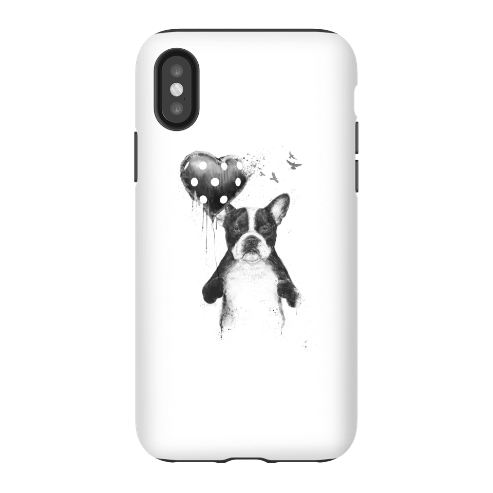 Balazs Solti Bulldog And Balloon Phone Case for iPhone and Android - iPhone X - Tough Case - Gloss von Balazs Solti