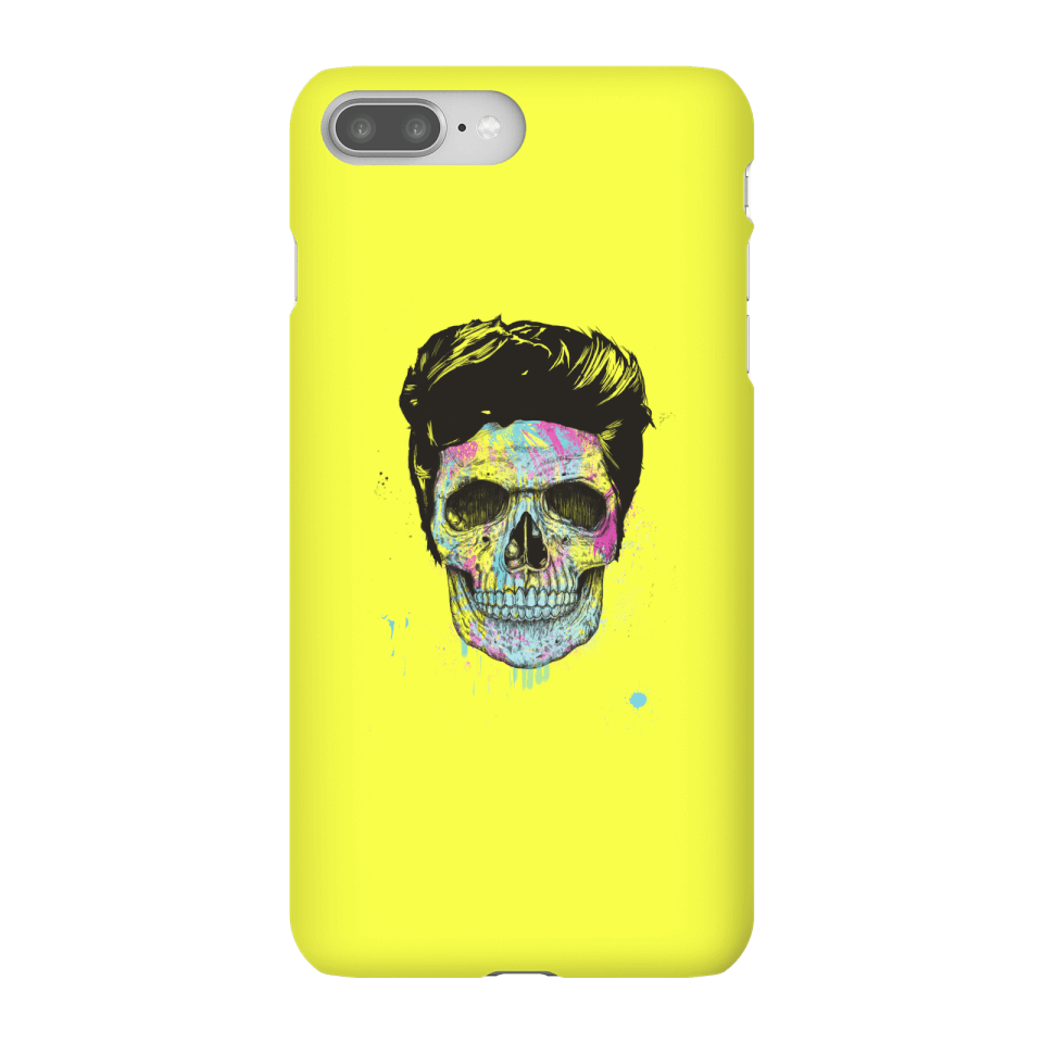 Balazs Solti Colourful Skull Phone Case for iPhone and Android - iPhone 8 Plus - Snap Case - Matte von Balazs Solti