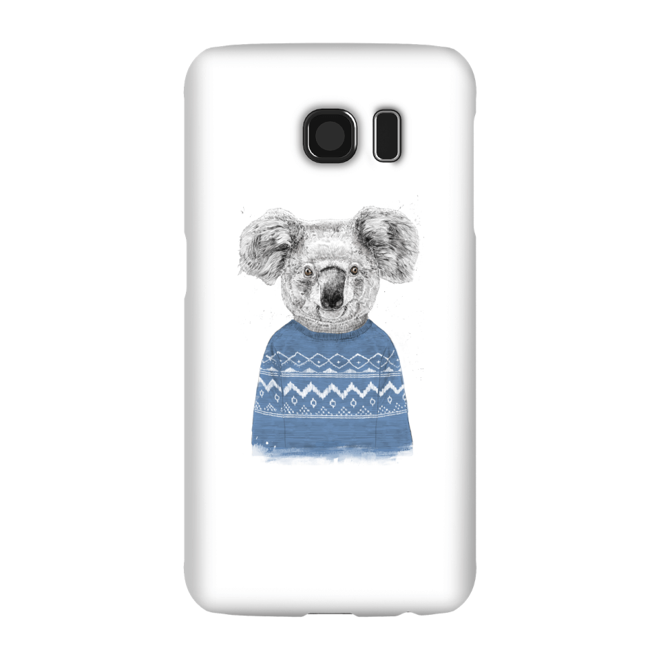 Balazs Solti Koala And Jumper Phone Case for iPhone and Android - Samsung S6 - Snap Case - Gloss von Balazs Solti