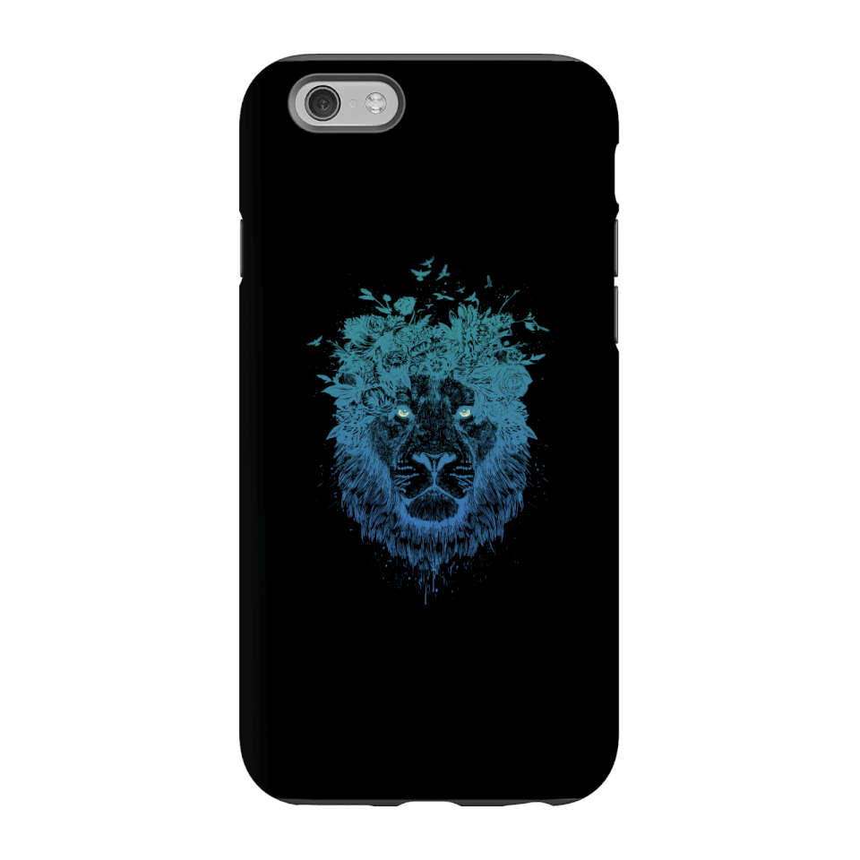 Balazs Solti Lion And Butterflies Phone Case for iPhone and Android - iPhone 6S - Tough Case - Gloss von Balazs Solti