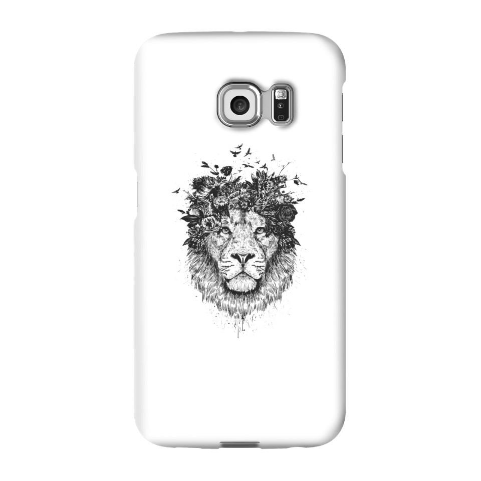 Balazs Solti Lion And Flowers Phone Case for iPhone and Android - Samsung S6 Edge - Snap Case - Gloss von Balazs Solti