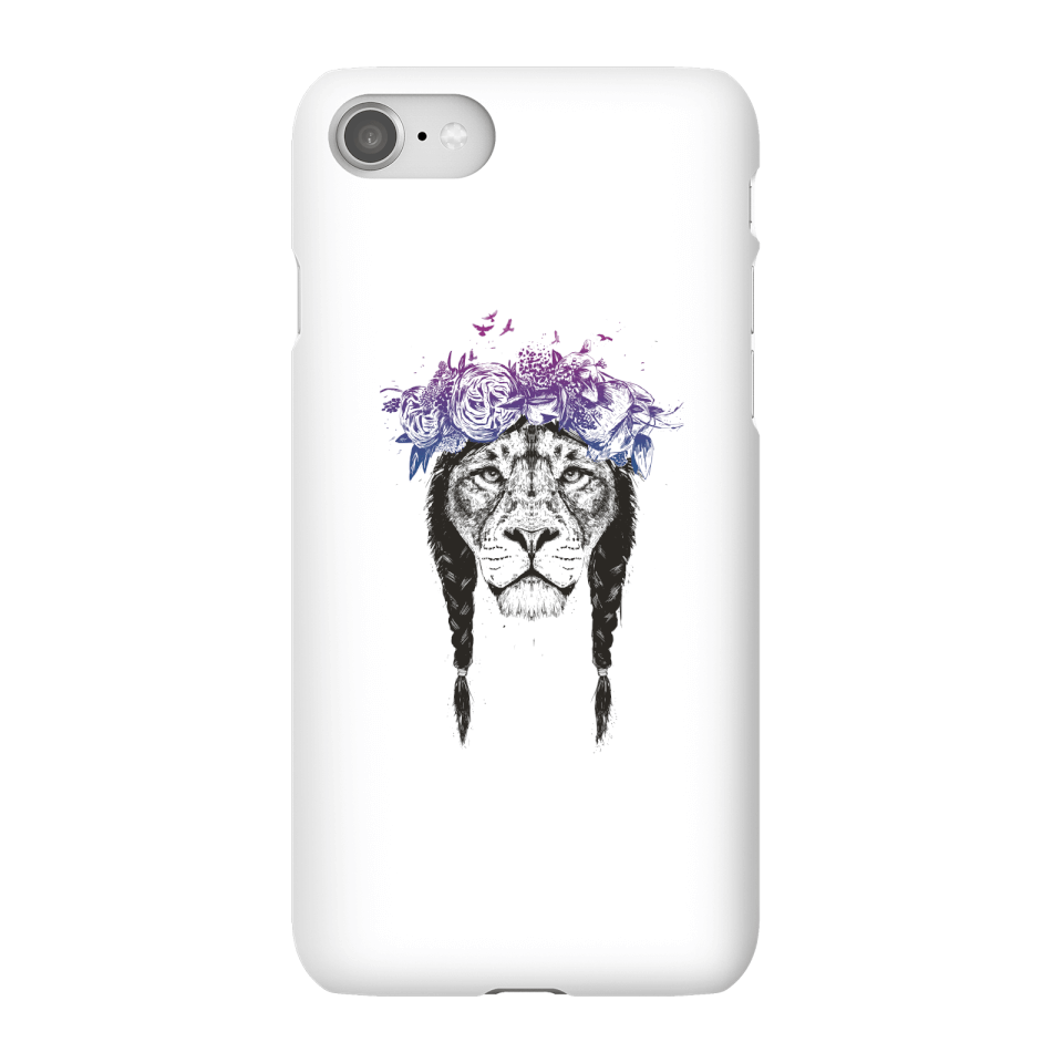 Balazs Solti Lion And Flowers Phone Case for iPhone and Android - iPhone 8 - Snap Case - Matte von Balazs Solti