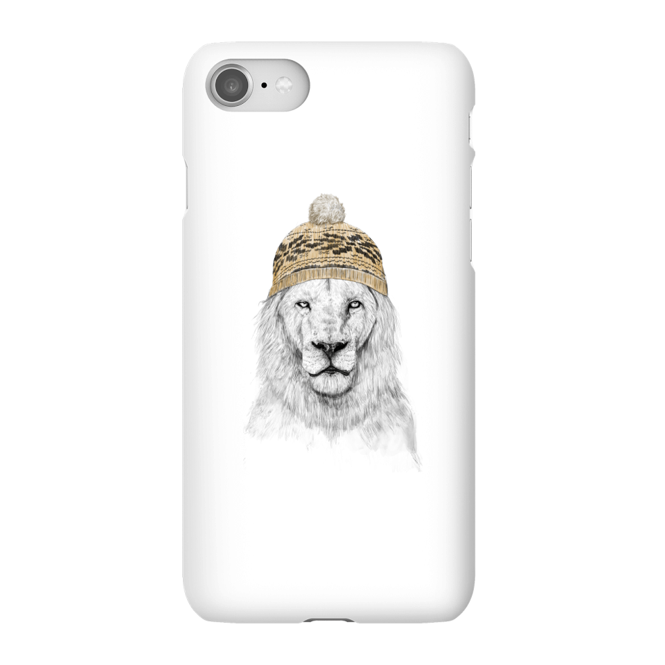 Balazs Solti Lion With Hat Phone Case for iPhone and Android - iPhone 8 - Snap Case - Gloss von Balazs Solti