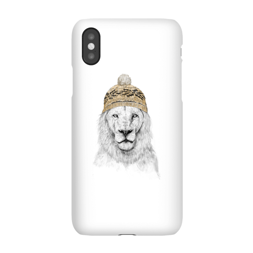 Balazs Solti Lion With Hat Phone Case for iPhone and Android - iPhone X - Snap Case - Gloss von Balazs Solti