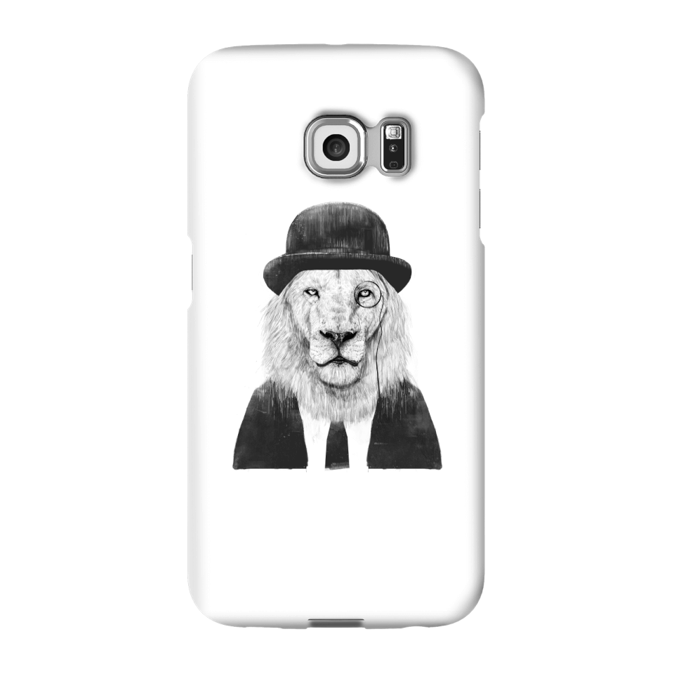 Balazs Solti Monocle Lion Phone Case for iPhone and Android - Samsung S6 Edge - Snap Case - Gloss von Balazs Solti