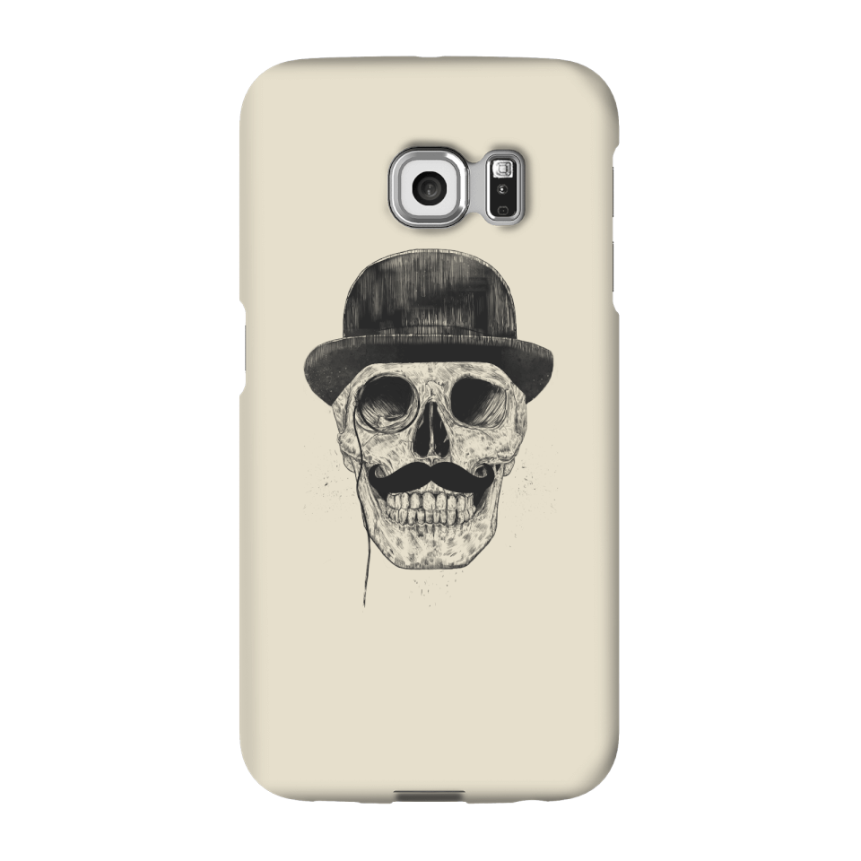 Balazs Solti Monocle Skull Phone Case for iPhone and Android - Samsung S6 Edge - Snap Case - Matte von Balazs Solti