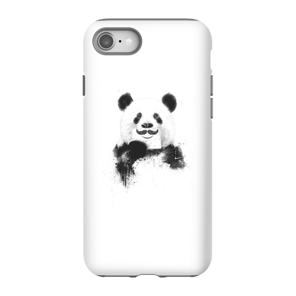 Balazs Solti Moustache And Panda Phone Case for iPhone and Android - iPhone 8 - Tough Case - Gloss von Balazs Solti