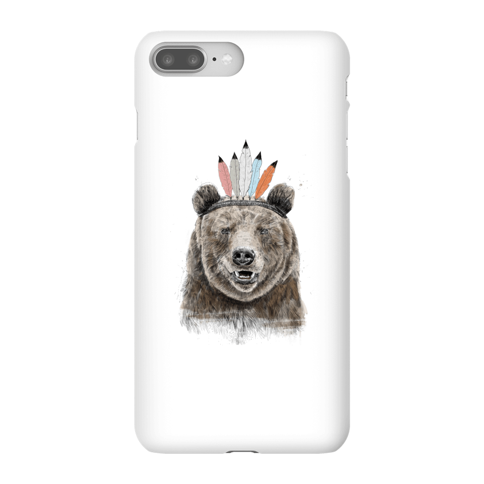 Balazs Solti Native Bear Phone Case for iPhone and Android - iPhone 8 Plus - Snap Case - Matte von Balazs Solti