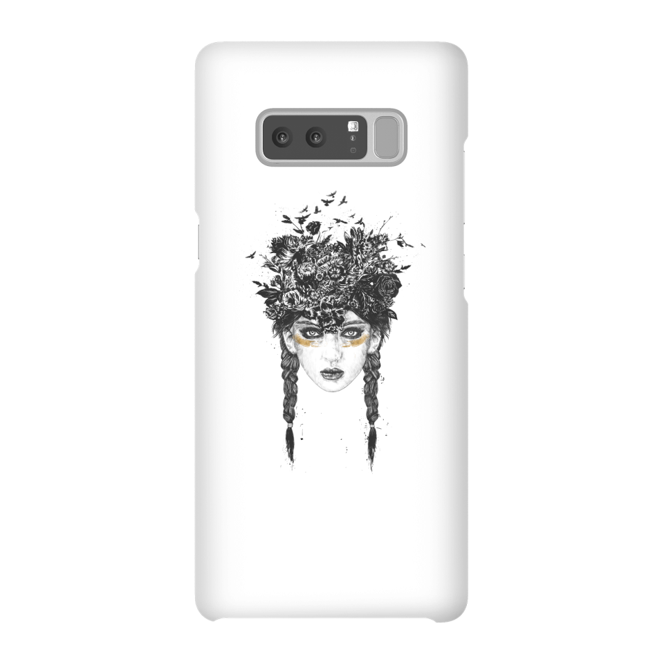 Balazs Solti Native Girl Phone Case for iPhone and Android - Samsung Note 8 - Snap Case - Matte von Balazs Solti