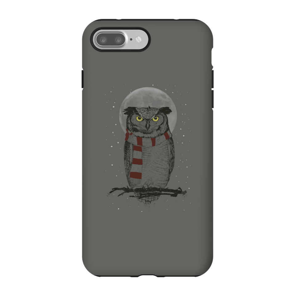 Balazs Solti Owl And Moon Phone Case for iPhone and Android - iPhone 7 Plus - Tough Case - Gloss von Balazs Solti