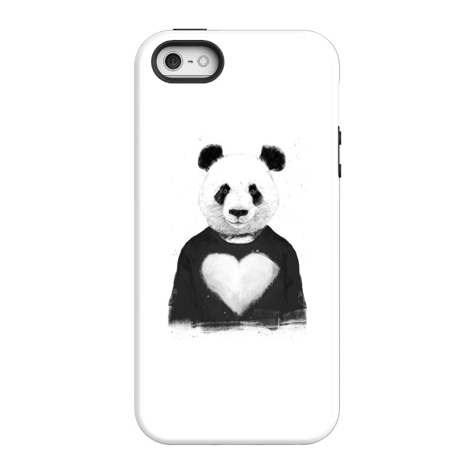 Balazs Solti Panda Love Phone Case for iPhone and Android - iPhone 5/5s - Tough Case - Gloss von Balazs Solti