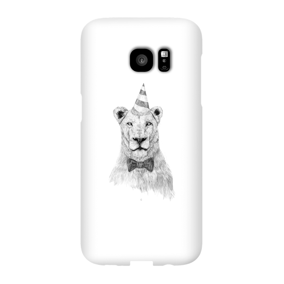 Balazs Solti Party Lion Phone Case for iPhone and Android - Samsung S7 Edge - Snap Case - Gloss von Balazs Solti