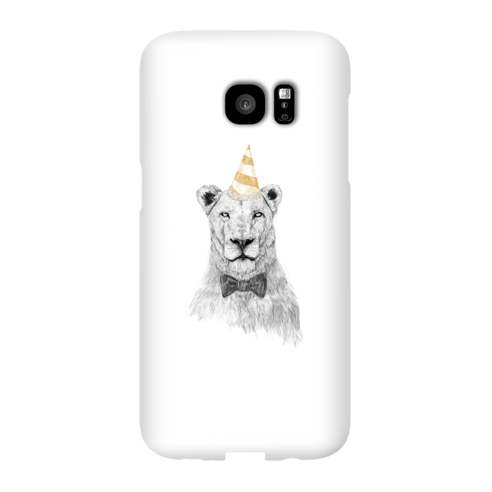 Balazs Solti Party Lion Phone Case for iPhone and Android - Samsung S7 Edge - Snap Case - Matte von Balazs Solti
