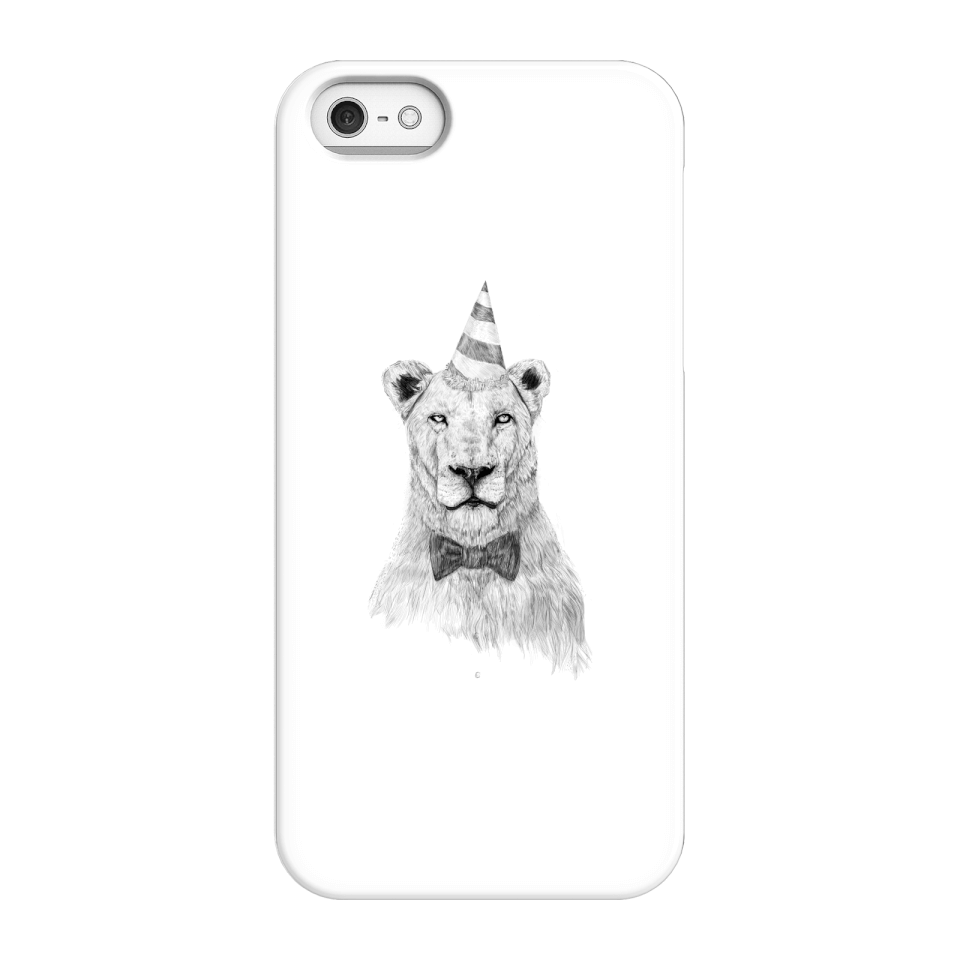 Balazs Solti Party Lion Phone Case for iPhone and Android - iPhone 5/5s - Snap Case - Matte von Balazs Solti