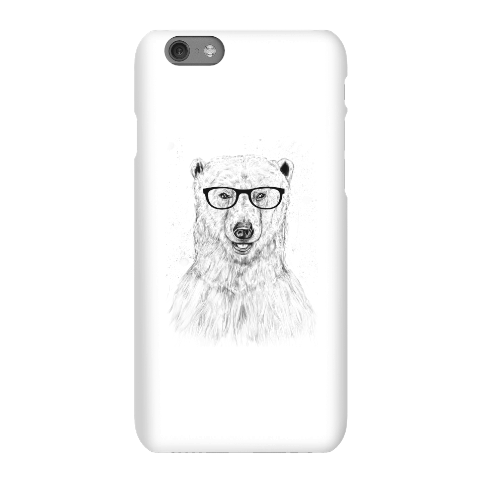 Balazs Solti Polar Bear And Glasses Phone Case for iPhone and Android - iPhone 6S - Snap Case - Gloss von Balazs Solti