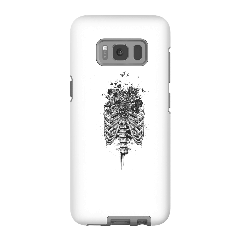 Balazs Solti Ribcage And Flowers Phone Case for iPhone and Android - Samsung S8 - Tough Case - Matte von Balazs Solti