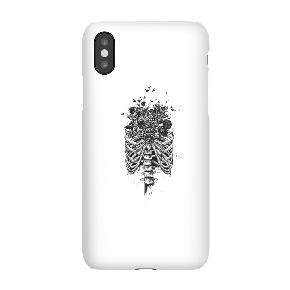 Balazs Solti Ribcage And Flowers Phone Case for iPhone and Android - iPhone X - Snap Case - Matte von Balazs Solti