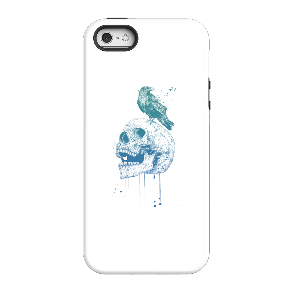 Balazs Solti Skull And Crow Phone Case for iPhone and Android - iPhone 5/5s - Tough Case - Gloss von Balazs Solti