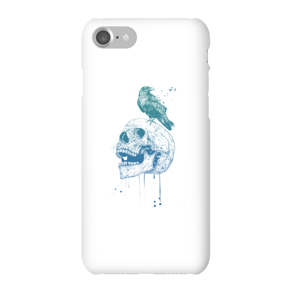 Balazs Solti Skull And Crow Phone Case for iPhone and Android - iPhone 7 - Snap Case - Gloss von Balazs Solti