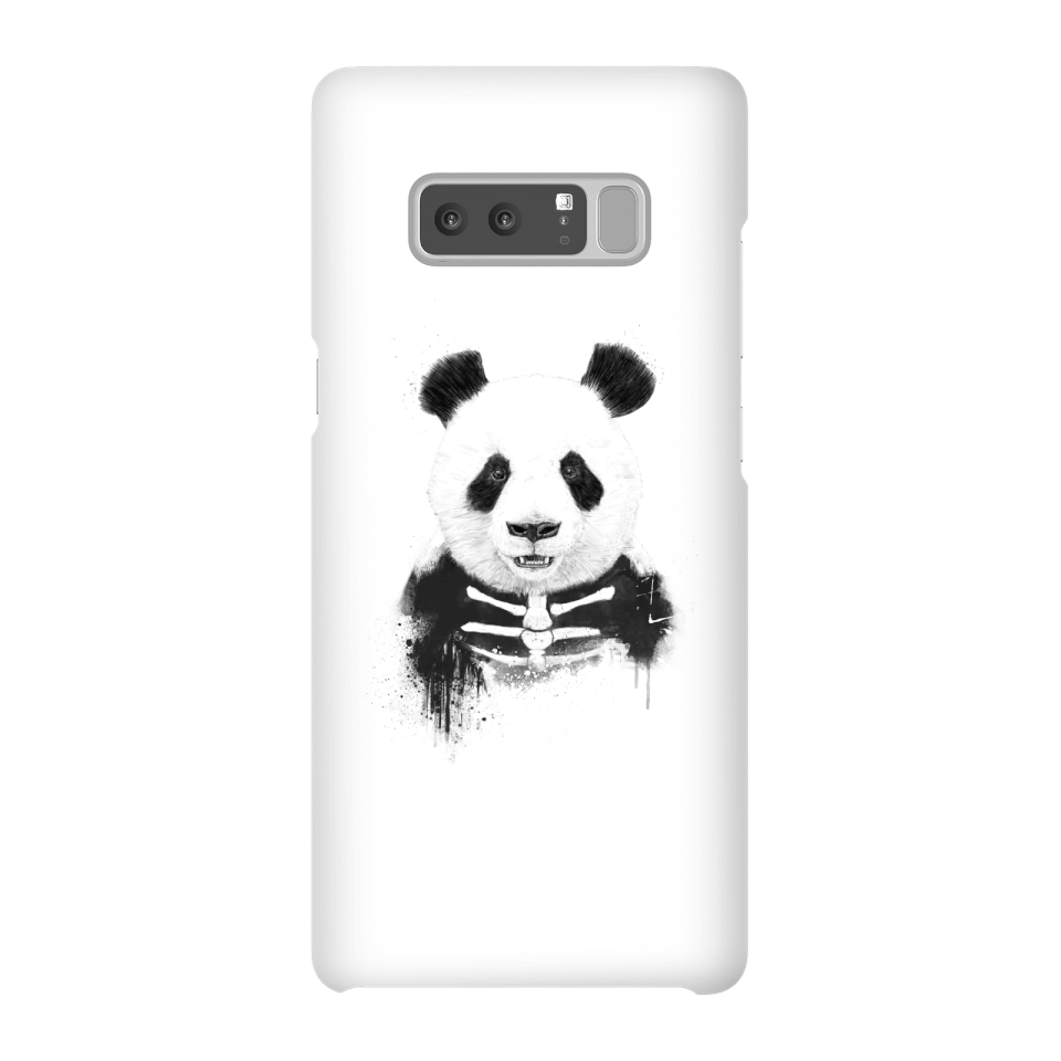 Balazs Solti Skull Panda Phone Case for iPhone and Android - Samsung Note 8 - Snap Case - Matte von Balazs Solti
