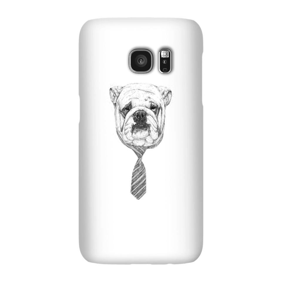 Balazs Solti Suited And Booted Bulldog Phone Case for iPhone and Android - Samsung S7 - Snap Case - Matte von Balazs Solti