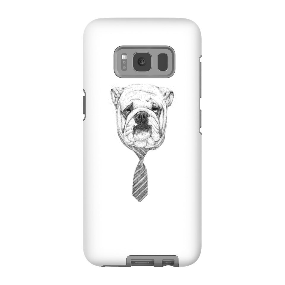 Balazs Solti Suited And Booted Bulldog Phone Case for iPhone and Android - Samsung S8 - Tough Case - Gloss von Balazs Solti