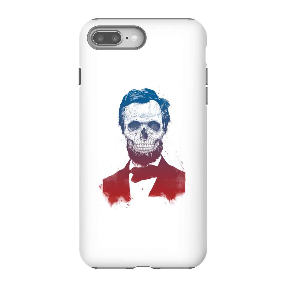 Balazs Solti Suited And Booted Skull Phone Case for iPhone and Android - iPhone 8 Plus - Tough Case - Matte von Balazs Solti