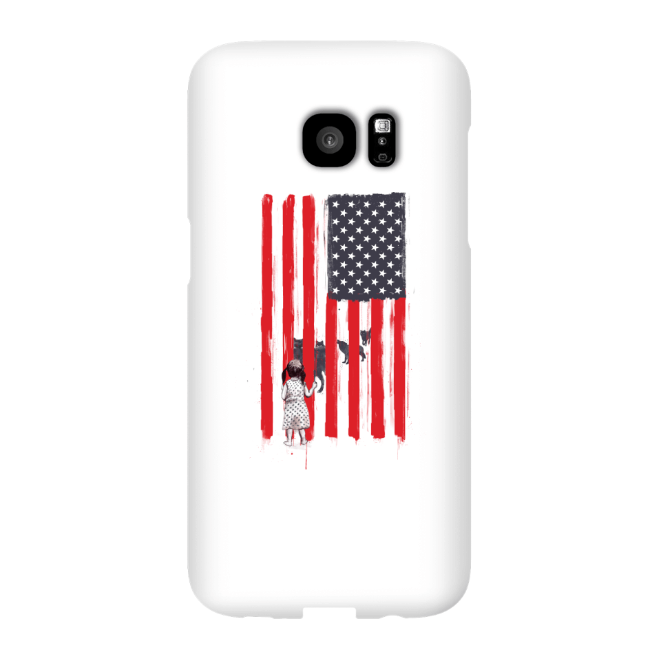 Balazs Solti USA Cage Phone Case for iPhone and Android - Samsung S7 Edge - Snap Case - Matte von Balazs Solti