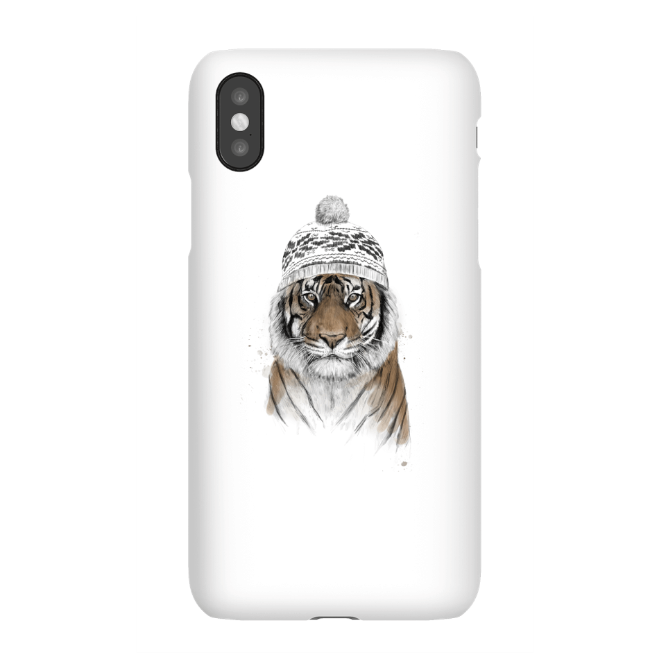 Balazs Solti Winter Tiger Phone Case for iPhone and Android - iPhone X - Snap Case - Gloss von Balazs Solti