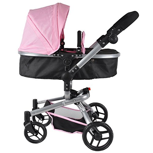 Puppenwagen Black Angel Softpink 2-in1 von Bandits & Angels
