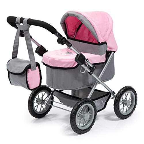 Bayer Design 1300800 - Puppenwagen Trendy, 46 cm, grau/rosa von Bayer Design