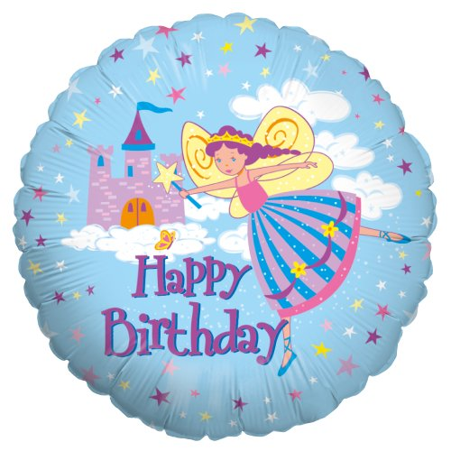 Betallic F86165P - Folienballon 18 Zoll - Happy Birthday Fairy Princess von Betallic