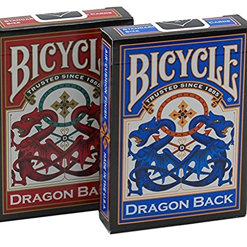 Red & Blue Dragon Playing Cards - 2 Decks by Bicycle von Bicycle
