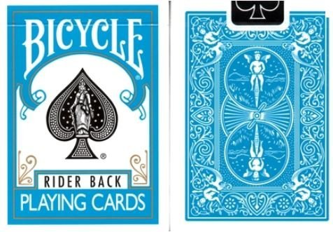 US Playing Card Company - Pokerkarten - Bicycle zurück in Blue Turquoise von Bicycle