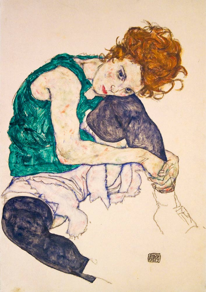 Bluebird Puzzle Egon Schiele - Seated Woman with Legs Drawn Up, 1917 1000 Teile Puzzle Art-by-Bluebird-Puzzle-60092 von Bluebird Puzzle