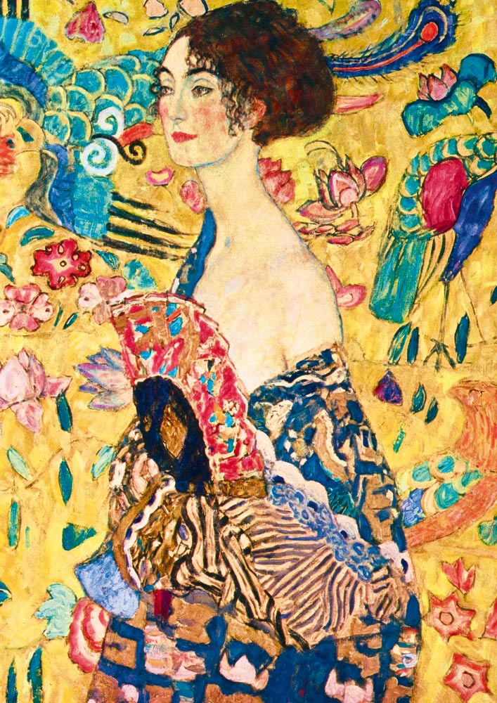Bluebird Puzzle Gustave Klimt - Lady with Fan, 1918 1000 Teile Puzzle Art-by-Bluebird-Puzzle-60095 von Bluebird Puzzle
