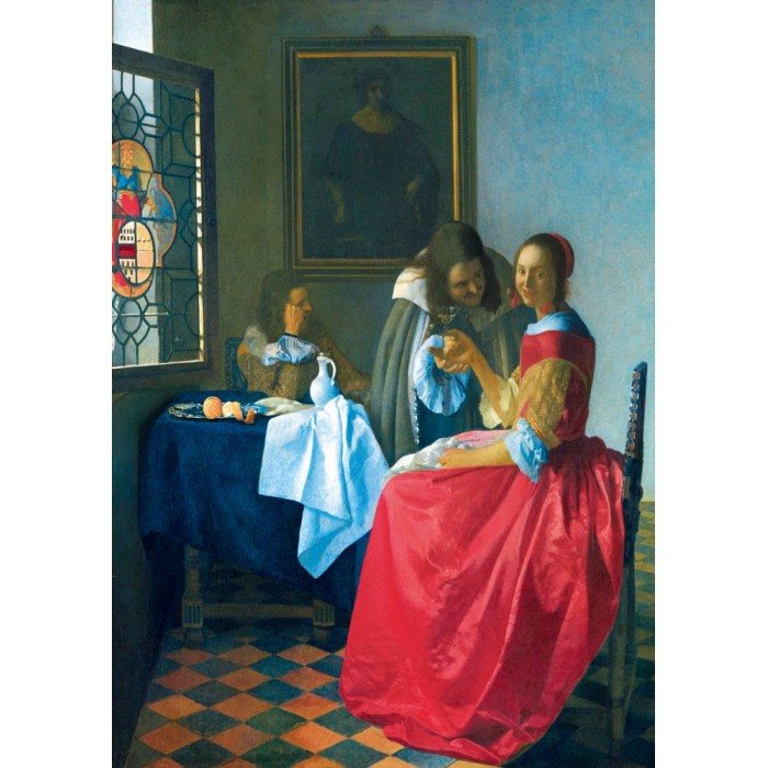 Bluebird Puzzle Vermeer- The Girl with the Wine Glass, 1659 von Bluebird Puzzle