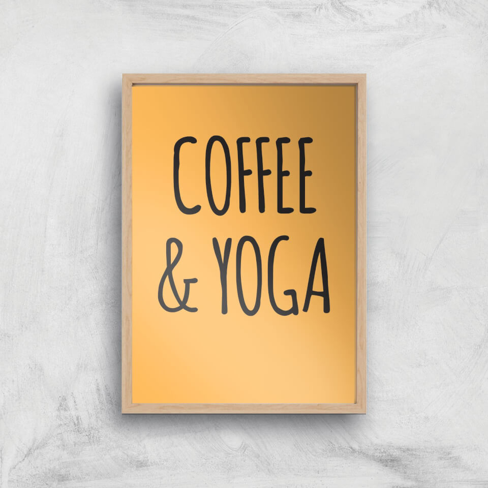 Coffee And Yoga Art Print - A2 - White Frame von By IWOOT